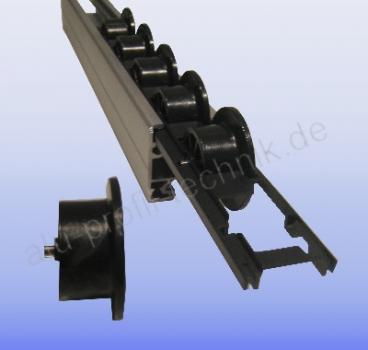 aluprofiltechnik rollenhalter bosch rollenbahn u profil rolle rollenhalter. Black Bedroom Furniture Sets. Home Design Ideas